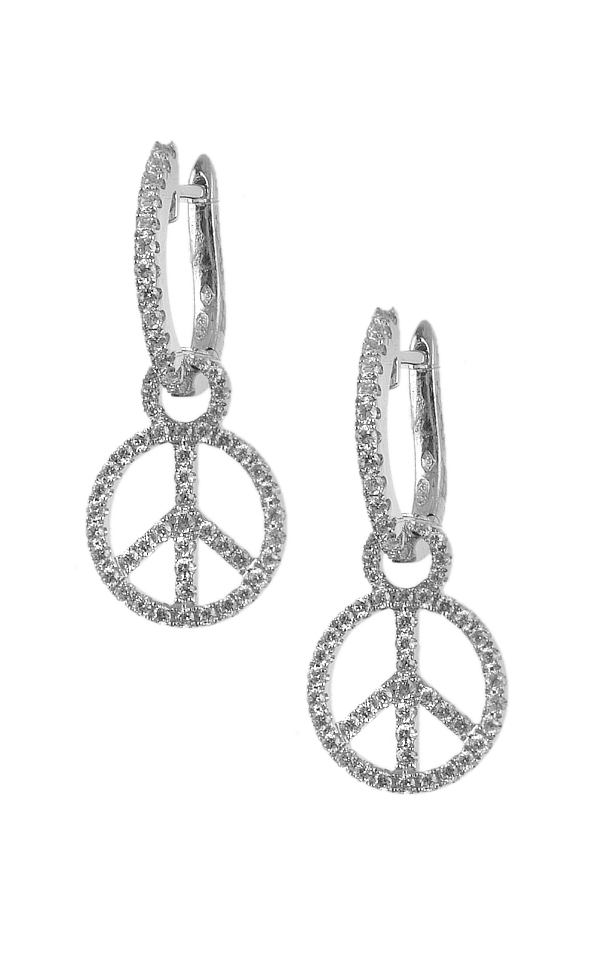 Gideon's Exclusive 18K White Gold Contemporary Earring