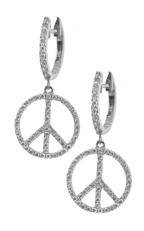 Gideon's Exclusive 18K White Gold Diamond Dangle Earring