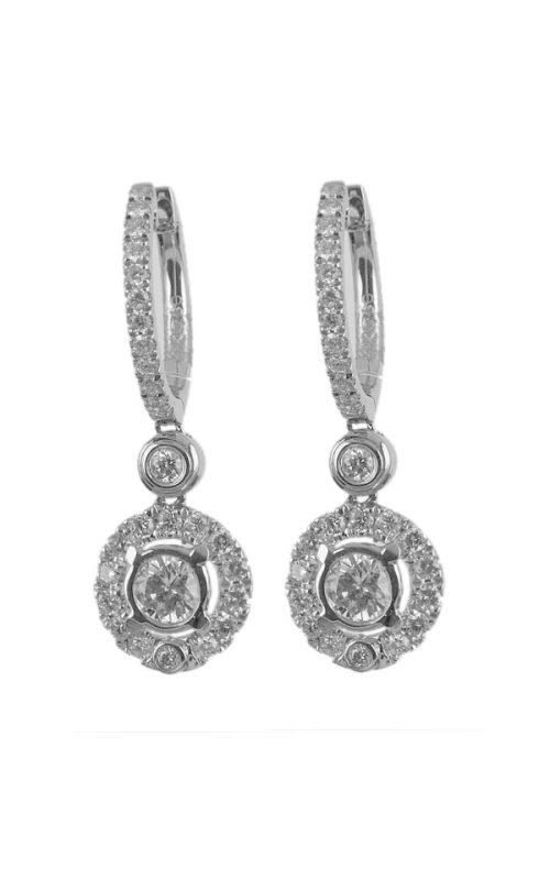 Gideon's Exclusive 18K White Gold Diamond Dangle Earring