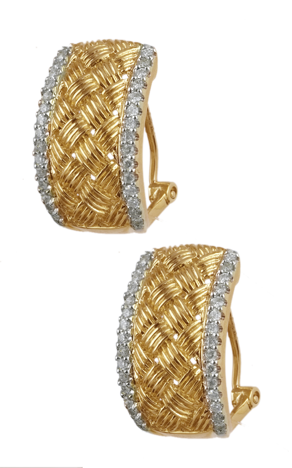 Gideon's Exclusive 14K Yellow Gold Diamond Hoop Earring