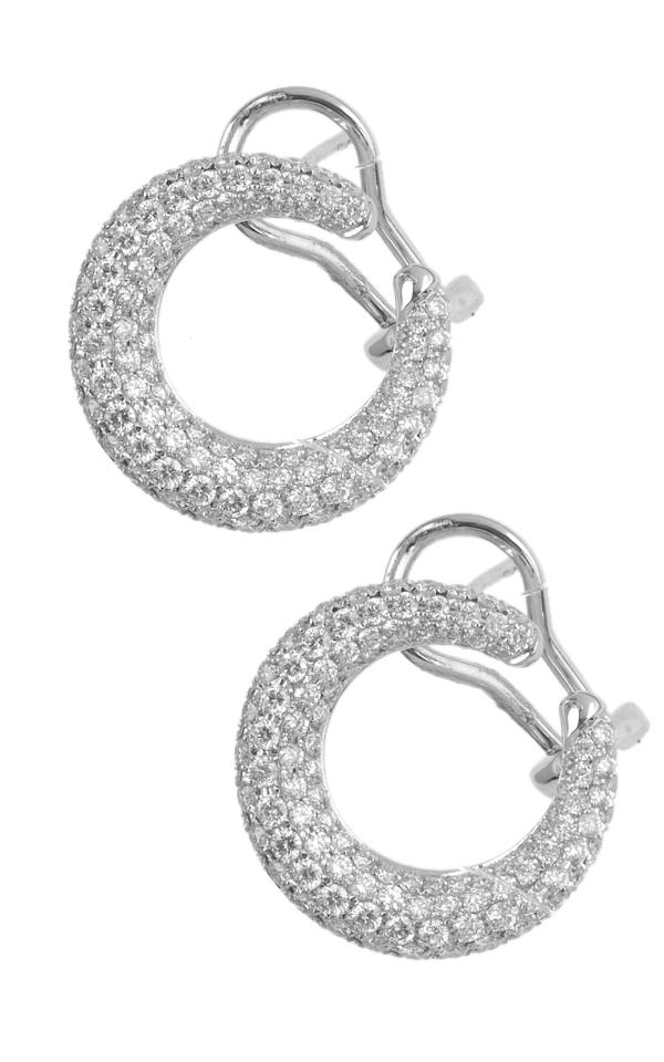 Gideon's Exclusive 18K White Gold Diamond Contemporary Earring