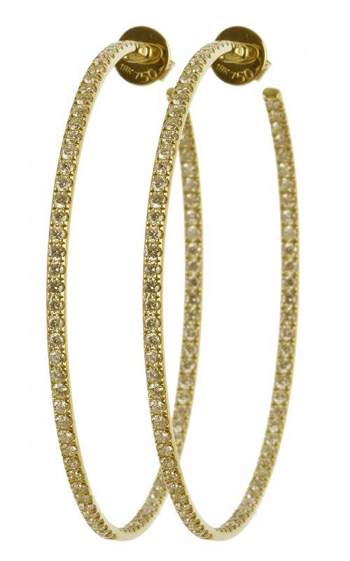 Gideon's Exclusive 18K Yellow Gold Diamond Hoop Earring