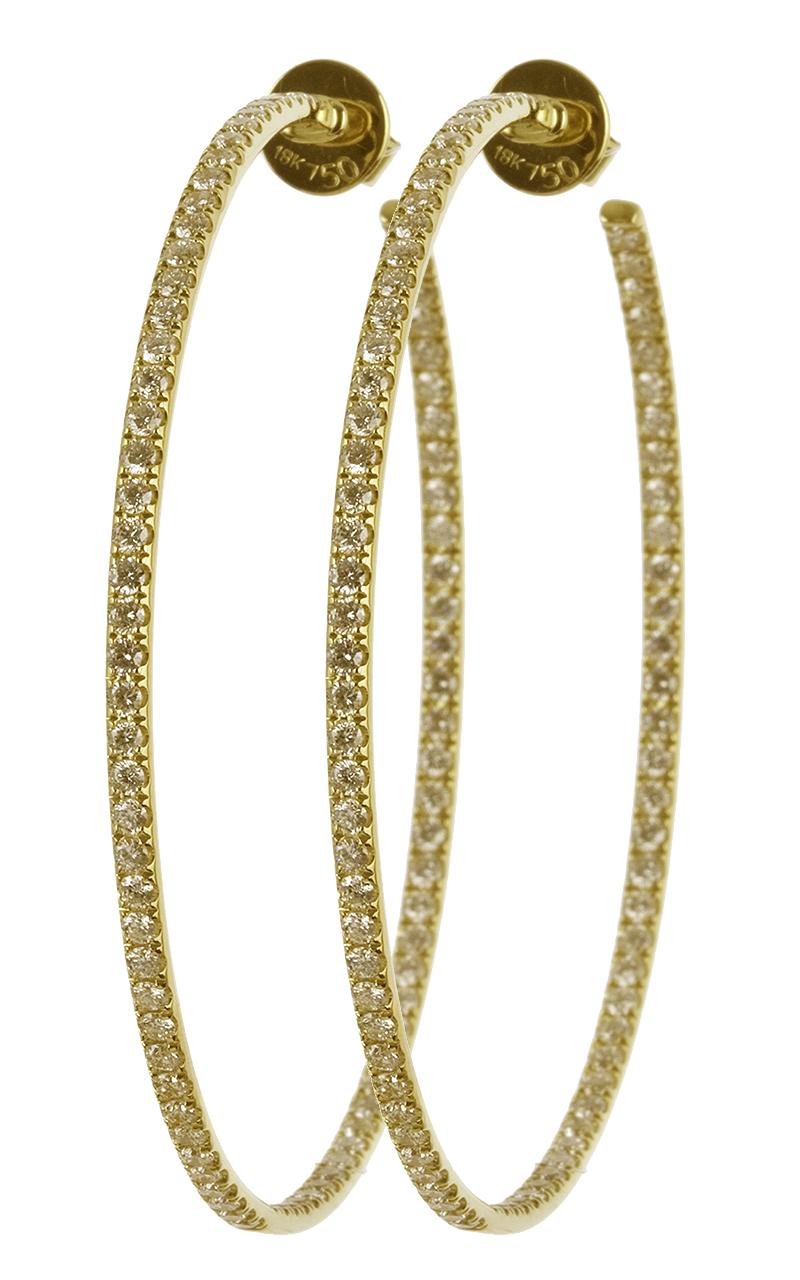 Gideon's Exclusive 18K Yellow Gold Diamond Hoop Earring