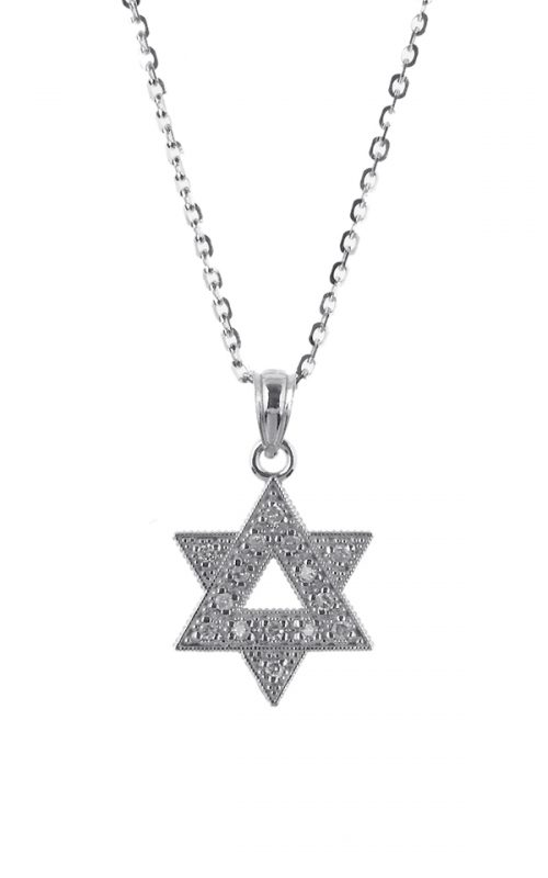 Gideon's Exclusive 14K White Gold Star of David Diamond Pendant