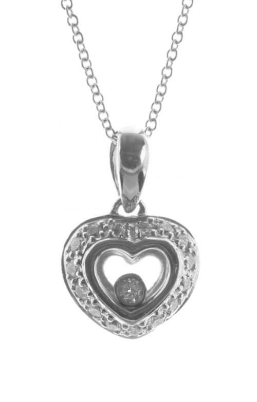 Gideon's Exclusive 14K White Gold Diamond Heart Pendant