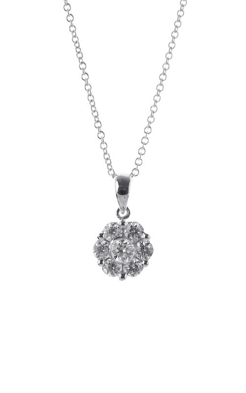 Gideon's Exclusive White Gold Flower Diamond Pendant