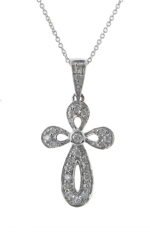 Gideon's Exclusive 14K White Gold Diamond Cross Pendant