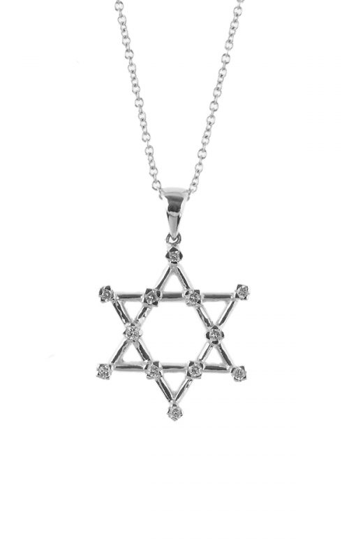 Gideon's Exclusive 18K White Gold Star of David Diamond Pendant