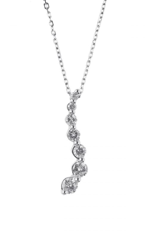 Gideon's Exclusive 14K White Gold Journey Diamond Pendant