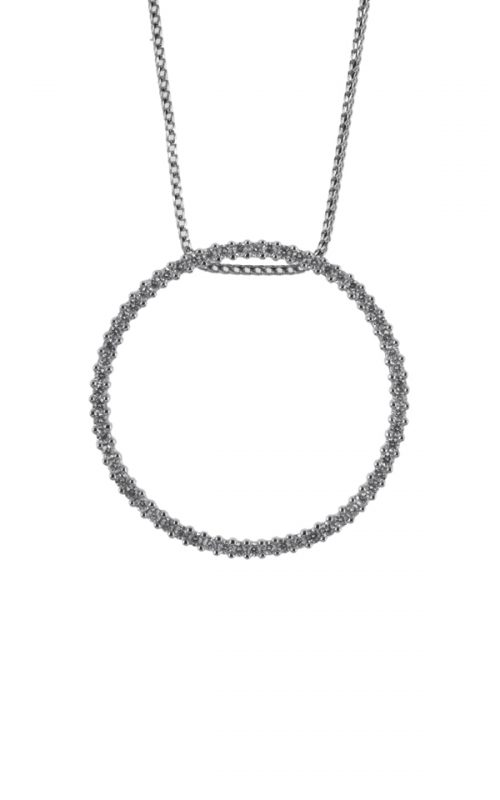 Gideon's Exclusive 18K White Gold Circle of Life Diamond Pendant