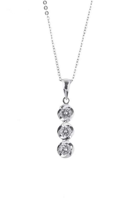 Gideon's Exclusive 18K White Gold Past-Present-Future Diamond Pendant