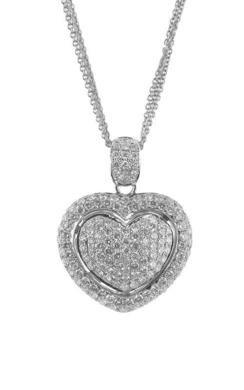 Gideon's Exclusive 18K White Gold Diamond Heart Pendant