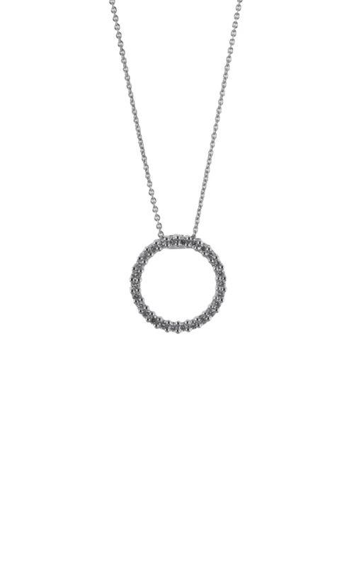Gideon's Exclusive 18K White Gold Circle of Life Diamond Pendant
