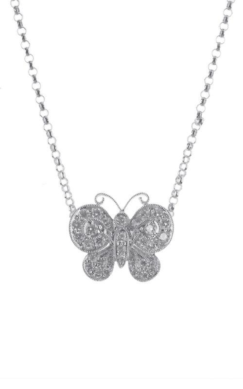 Gideon's Exclusive 18K White Gold Contemporary Diamond Pendant