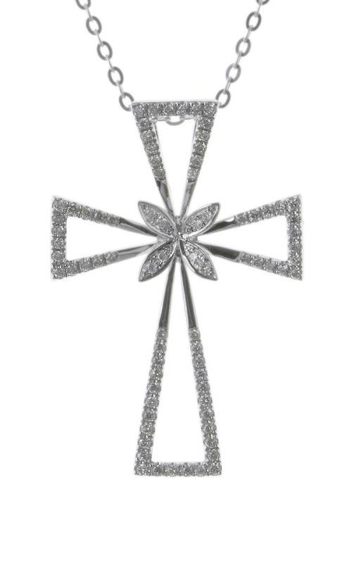Gideon's Exclusive 18K White Gold Diamond Cross Pendant