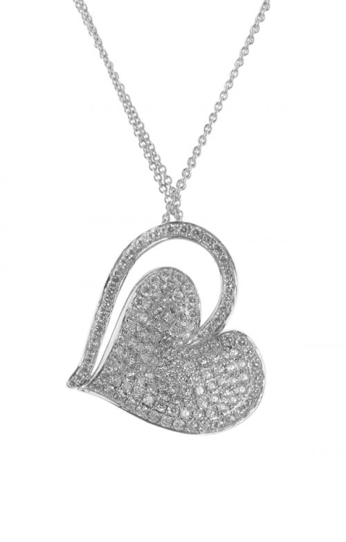 Gideon's Exclusive 18K White Gold Heart Pendant