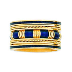 Hidalgo Stackable Rings Art Deco Collection Set (RG2005, RB452 & RB5021)