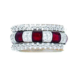 Hidalgo Stackable Rings Art Deco Collection Set (RR1043 & RM2296)
