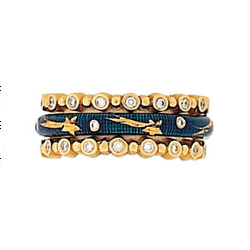 Hidalgo Stackable Rings Moon and Stars Collection Set (RS7576 & RS6906)