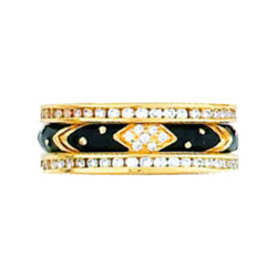 Hidalgo Stackable Rings Art Deco Collection Set (RJ3011 & RB5006)