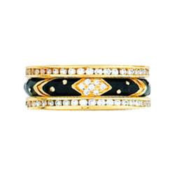 Hidalgo Stackable Rings Art Deco Collection Set (RJ3011 & RB5006)