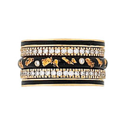 Hidalgo Stackable Rings Art Deco Collection Set (RS7563, RB480 & RB5021)