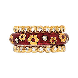 Hidalgo Stackable Rings Flowers Collection Set (RS7552 & RS6696)