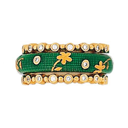 Hidalgo Stackable Rings Flowers Collection Set (RS7559 & RS6906)