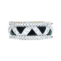 Hidalgo Stackable Rings Art Deco Collection Set (RN2232A & RN2006)