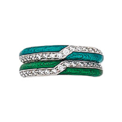 Hidalgo Stackable Rings Art Deco Collection Set (RS6079)
