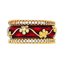Hidalgo Stackable Rings Flowers Collection Set (RR1982 & RS7042)