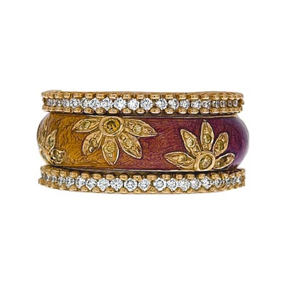 Hidalgo Stackable Rings Flowers Collection Set (RS6224 & RR1533)