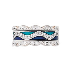 Hidalgo Stackable Rings Art Deco Collection Set (RS6086 & RR1346)