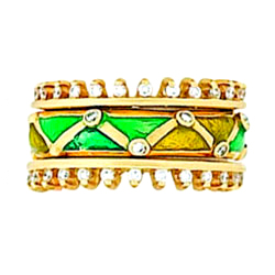 Hidalgo Stackable Rings Art Deco Collection Set (RS6367 & RS7042)
