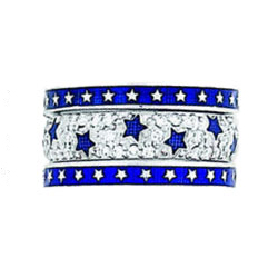 Hidalgo Stackable Rings Moon and Stars Collection Set (RS6609 & RS6614)
