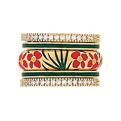 Hidalgo Stackable Rings Flowers Collection Set (RS7470, RB5021 & RB480)