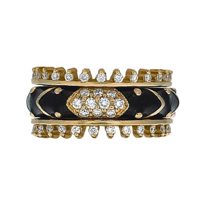 Hidalgo Stackable Rings Art Deco Collection Set (RB4078 & RR1359)