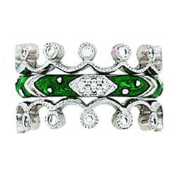 Hidalgo Stackable Rings Art Deco Collection Set (RJ3011 & RR1154)