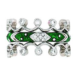 Hidalgo Stackable Rings Art Deco Collection Set (RJ3011 & RR1154)