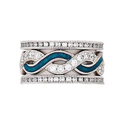 Hidalgo Stackable Rings Art Deco Collection Set (RR1549 & RB5006)