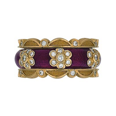 Hidalgo Stackable Rings Flowers Collection Set (RJ3118 & RB5006)