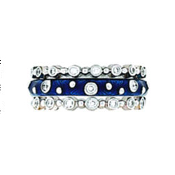 Hidalgo Stackable Rings Moon and Stars Collection Set (RN2008 & RS6906)