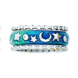 Hidalgo Stackable Rings Moon and Stars Collection Set (RJ3098 & RS7258)