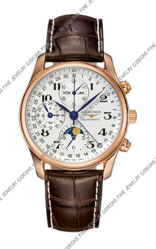 Longines Master Collection Mens Moon Phase Chronograph L2.673.8.78.3 40 mm