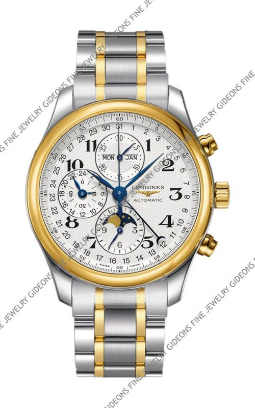 Longines Master Collection Mens Moon Phase Chronograph L2.773.5.78.7 40 mm