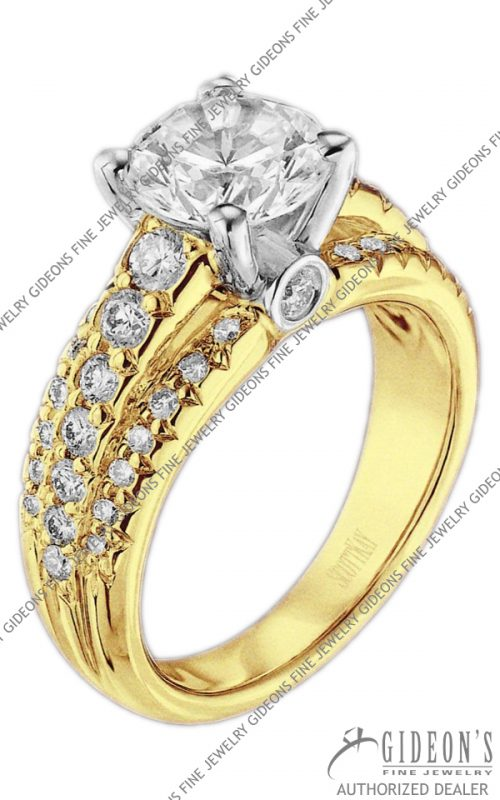 Scott Kay Gold Engagement Set (M1105RDFP)