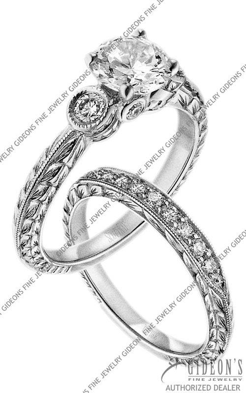 Scott Kay Platinum Engagement Set(M1136RD10PP & B1136RD10PP)