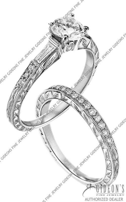 Scott Kay Platinum Engagement Set(M1139BDRD07PP & B1139RD07PP)