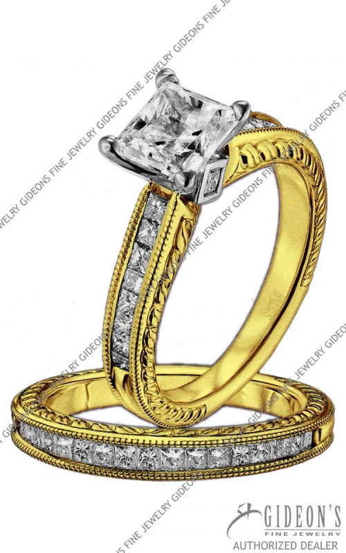 Scott Kay Gold Engagement Set (M1157QD10FP & B1157QD10FF)