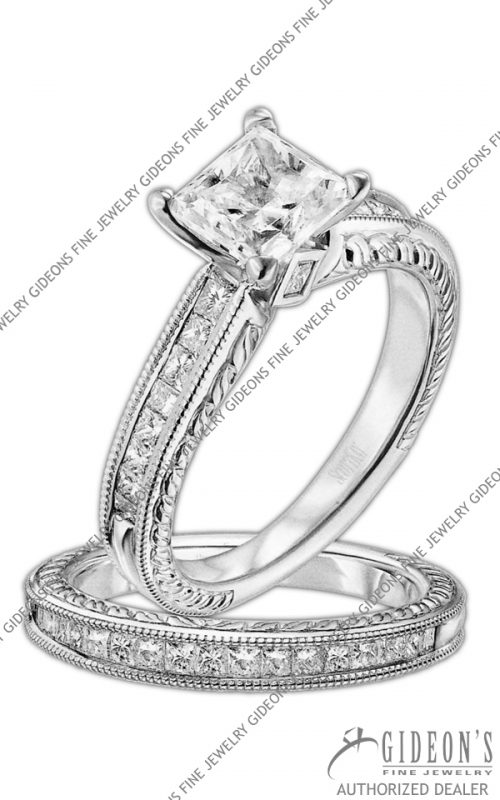 Scott Kay Platinum Engagement Set(M1157QD10PP & B1157QD10PP)